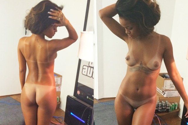 Frontal rihanna nude full