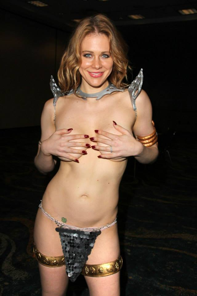 Red Sonja half naked Maitland Ward cosplay