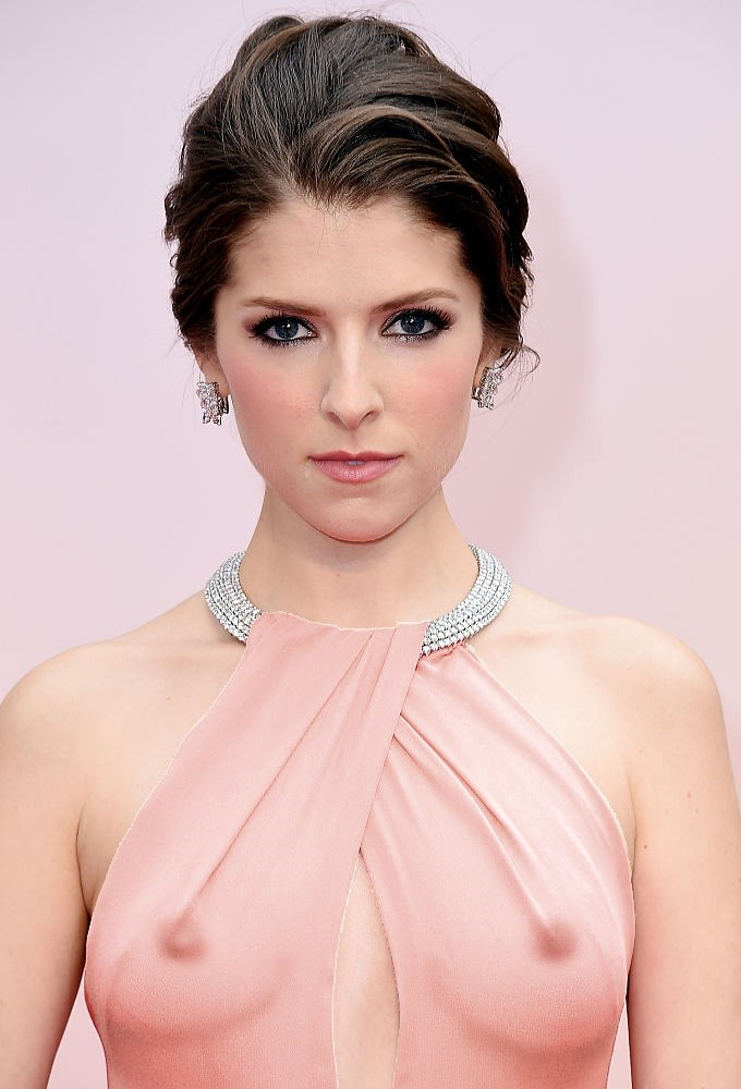 Anna Kendrick Totally Sexy Dressing Revealing Her Sweet Boobs See Through Dress Exposing Everything Boobs And Nipples Hot