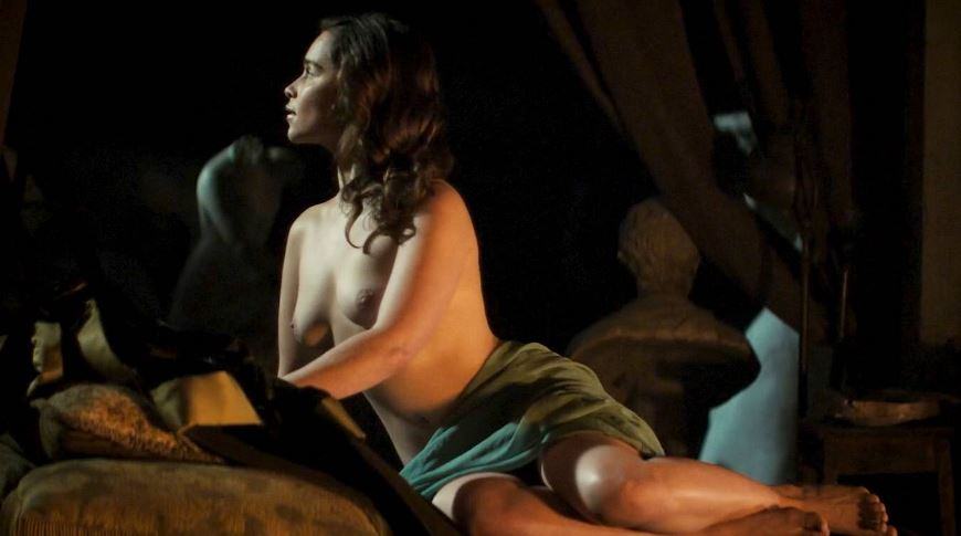 Emilia Clarke naked boobs tits from Voice of the Stone