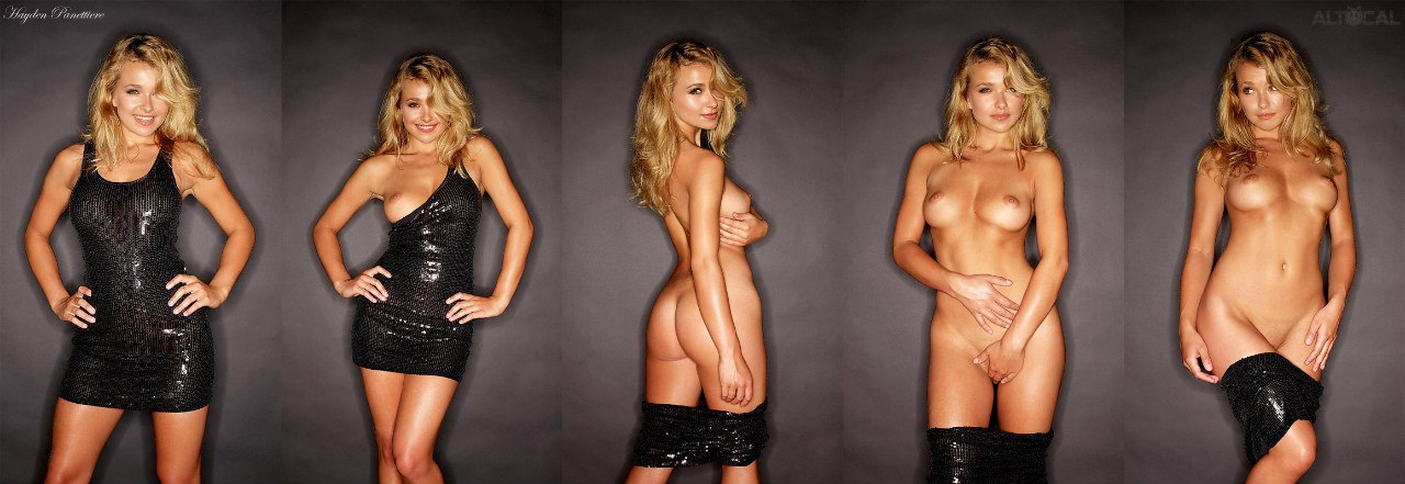 hayden panettiere full naked & topless nude photo compilation