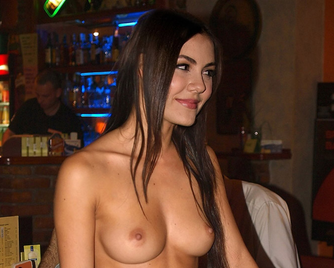 Solo pinching and pulling nipples
