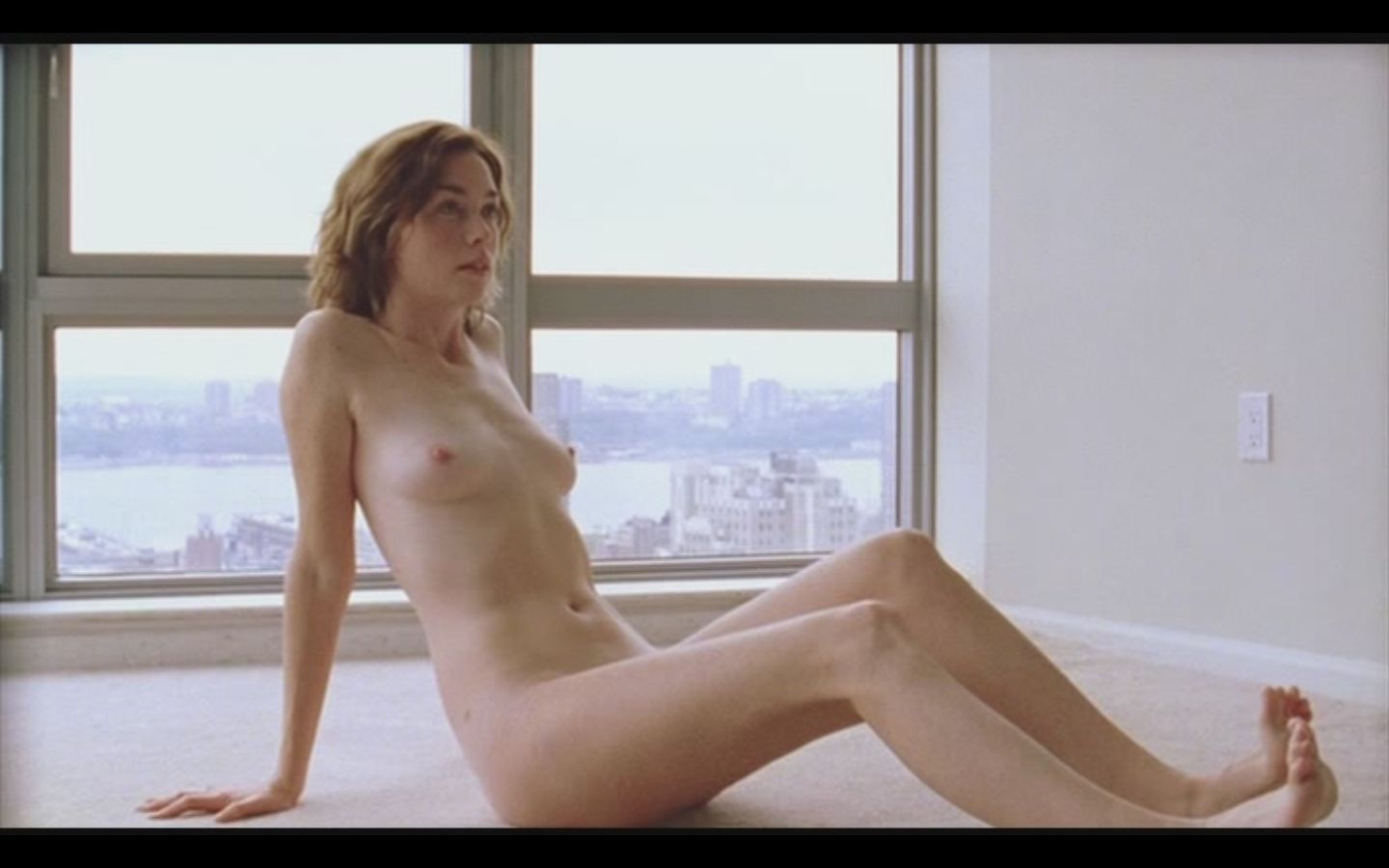 Nudist girl staring at erection