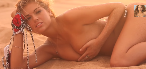 Kate upton topless / nude in commercial