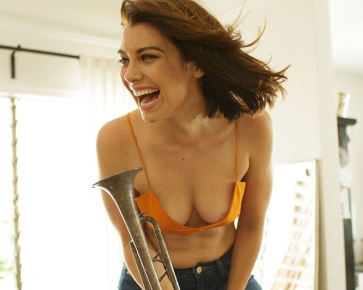 Lauren Cohan (Walking Dead star) nipple slip during photoshoot