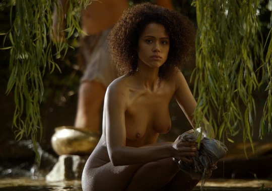 Nathalie Emmanuel hot tits topless outdoors, game of thrones 2
