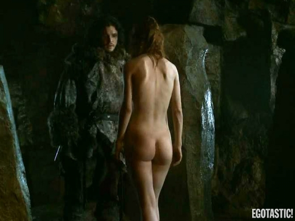 Rose Leslie fully naked ass, booty, butt in game of thrones
