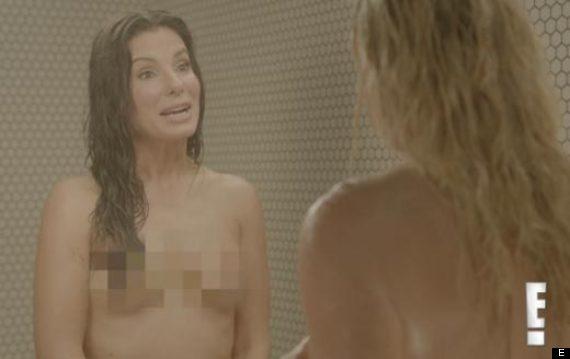 sandra bullock nude in bath