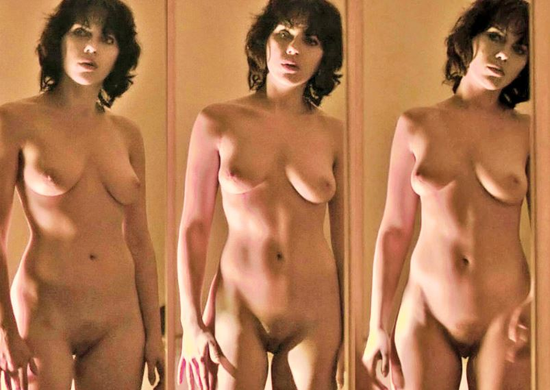 naked woman in sexy clothes
