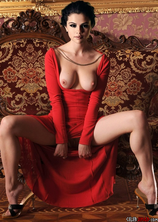 Nude in red